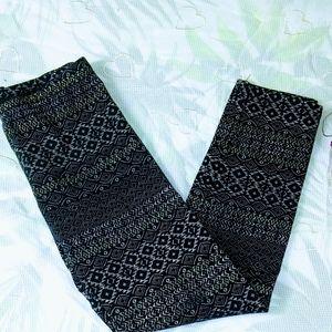 Leggings ⭐ size Medium for girls black/grey old Na
